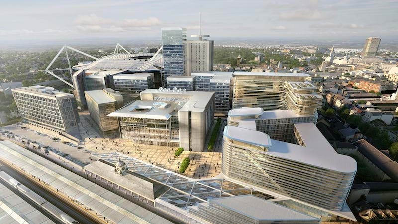 Aerial View of the new BBC Wales HQ