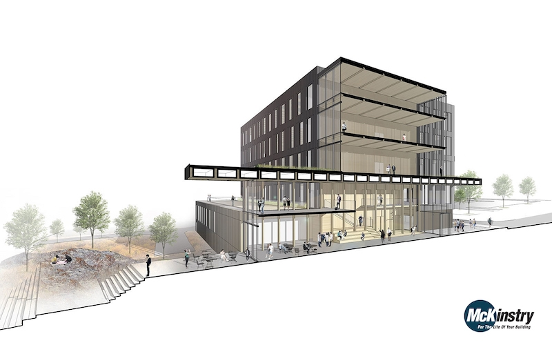One Of The Largest Zero Carbon Net Zero Buildings Is Rising