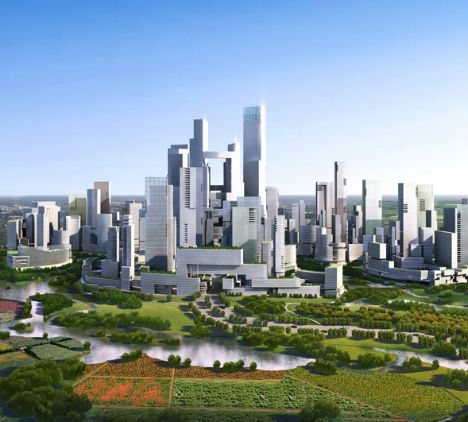 Great City Cars >> China Plans New Car Free City Building Design Construction