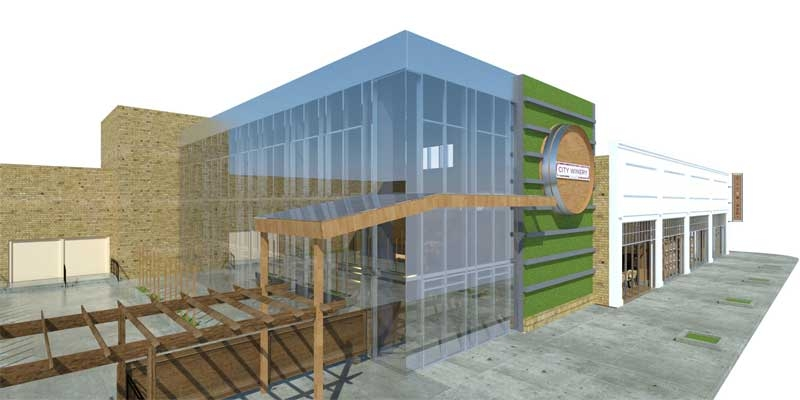 The new addition will keep with the feel of the existing building while incorpor