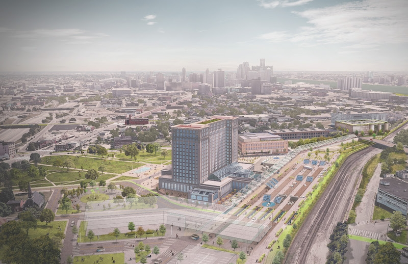 Abandoned train depot in Detroit will be part of new mobility innovation district under development.