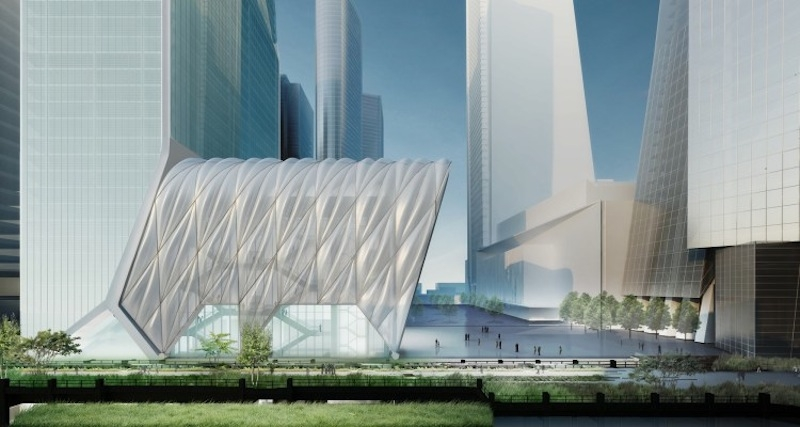 A Retractable Canopy At Hudson Yards Will Transform Into A
