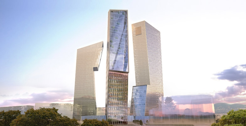 Daniel Libeskind unveils design for Rome skyscrapers