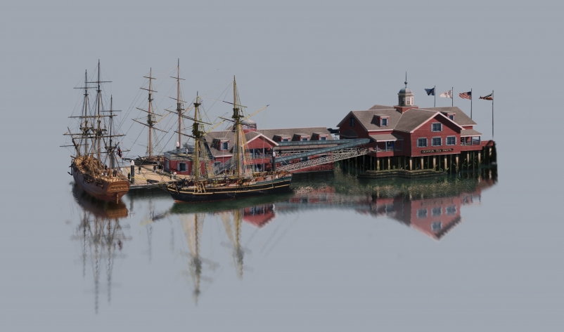 The two-story Boston Tea Party Ships & Museum, designed by Margulies Perruzzi Ar