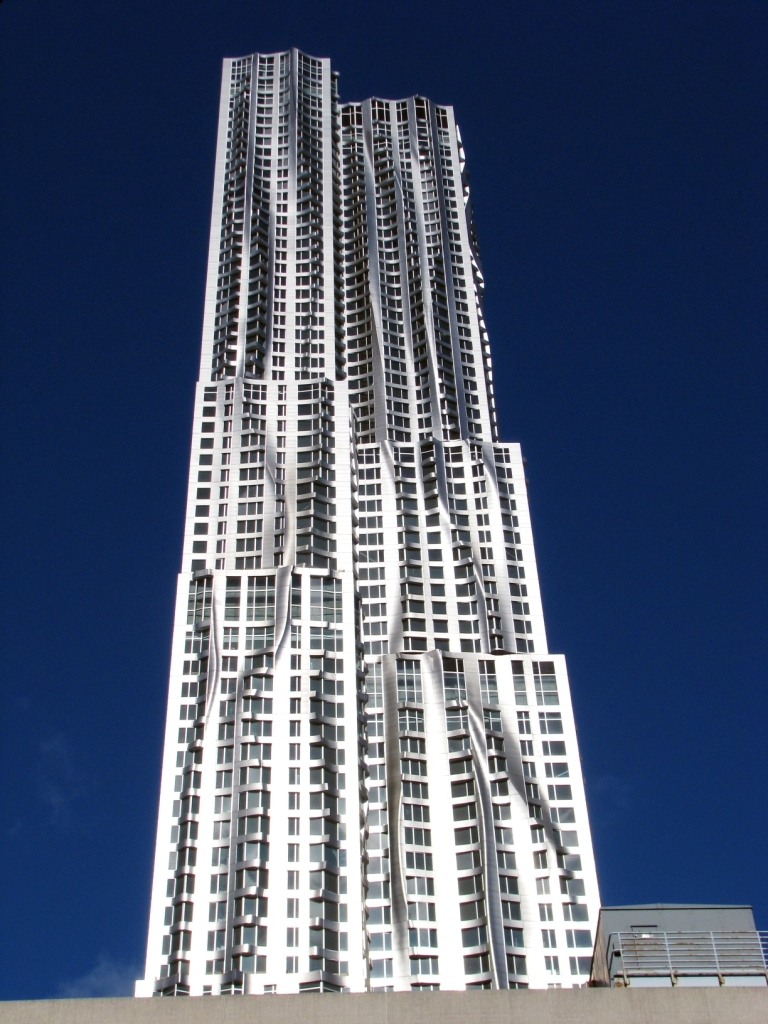 8 Spruce Street, the first skyscraper by the architect Frank Gehry, and also kno