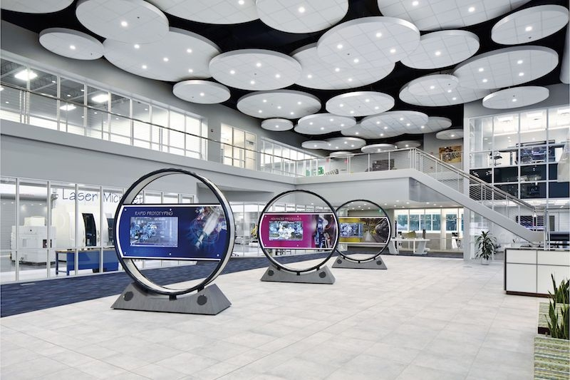 Acoustical Ceiling Clouds Soar Above Ge Customer Experience