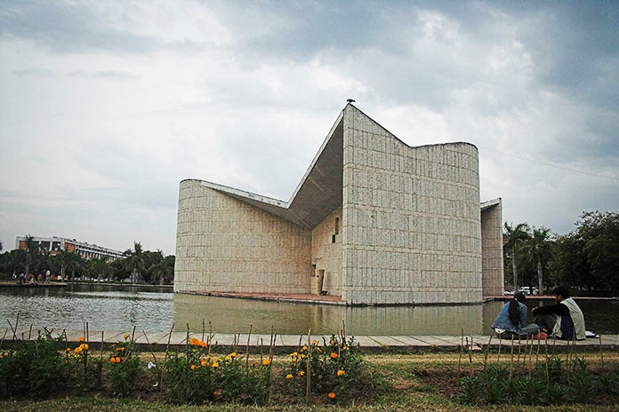Gandhi Bhawan, Gandhi Center, India, Panjab University, Chandigarh, Indic, Pierre Jeanneret, Architecture, Getty Foundation, Grant, Historic Preservation