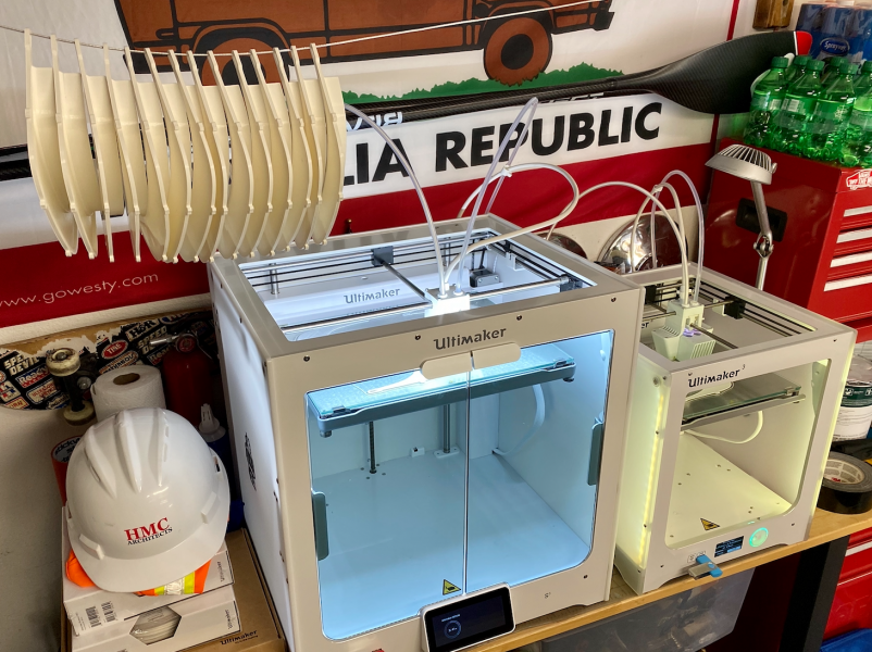 HMC is using Ultimaker 3D printers to produce mask parts remotely