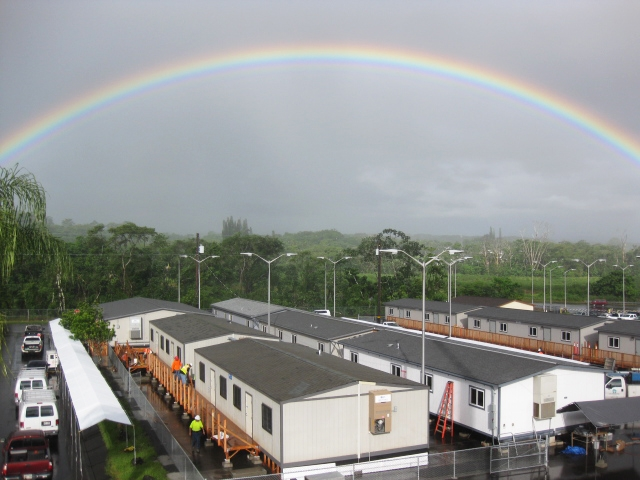 When lava flow in Hawaii threatens a public school district, officials turn to modular