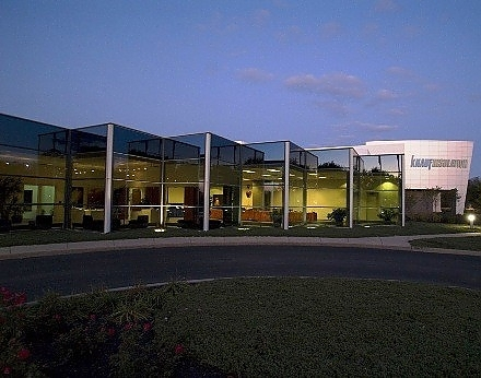 In 2007 after fire destroyed an office building on the Knauf Insulation corporat