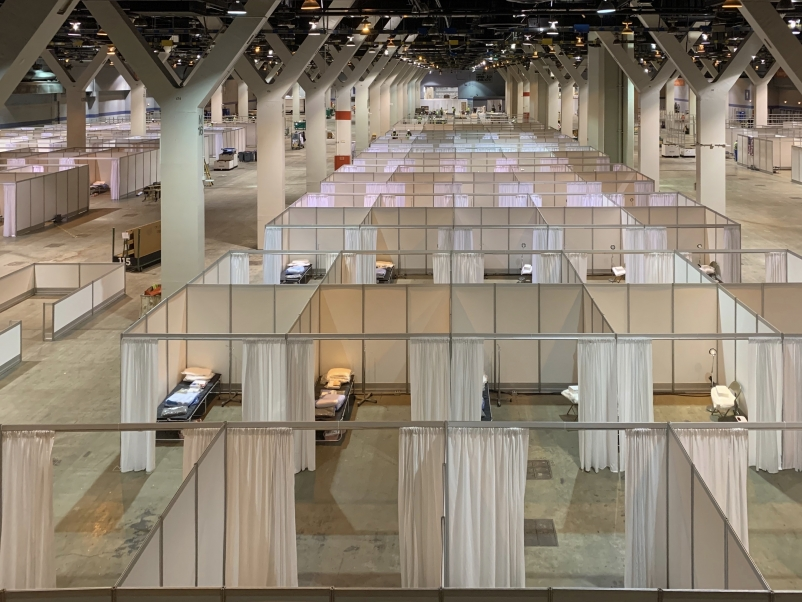 The first 500 patient rooms at McCormick Place Convention Center.