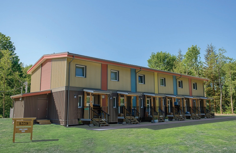 Metric modular s passive house six plex saves time and for Metric homes