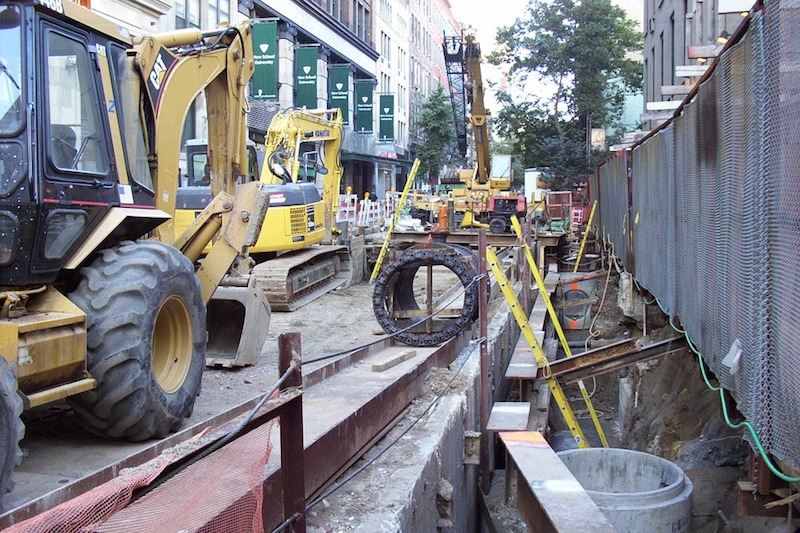 A construction site in Manhattan