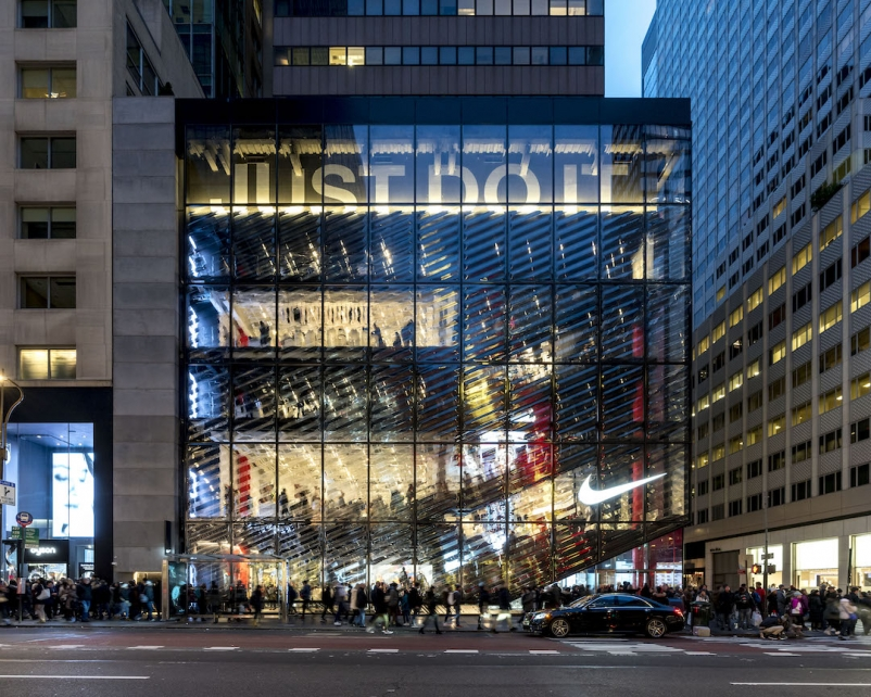Top 80 Retail Construction Firms for 2019 Nike Store on 5th Ave. in New York City. Photo by Jonathan Morefield