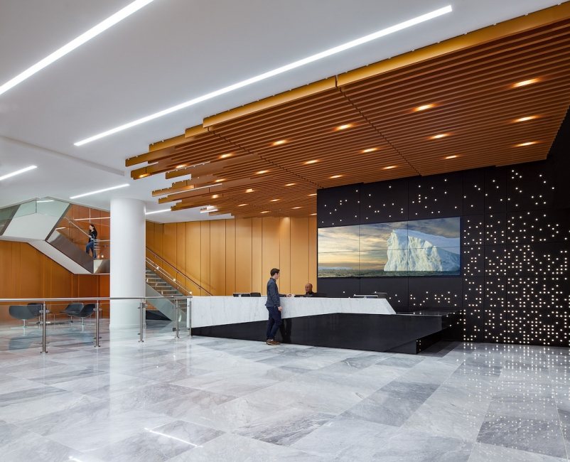 2019 Office Giants Report, 2019 Giants 300 Report, National Science Foundation headquarters, Alexandria, Va. Architect WDG Interiors Photo MAXWELL MACKENZIE