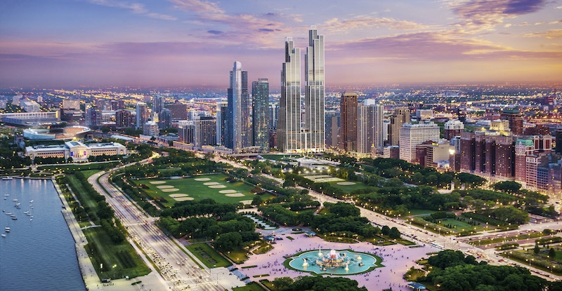 76 Story Luxury Apartment Tower In Chicago S South Loop Gets Name And Begins Construction