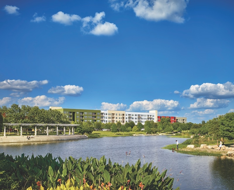 The five-story, 230,000-sf Mueller Multifamily residences in Austin, Texas