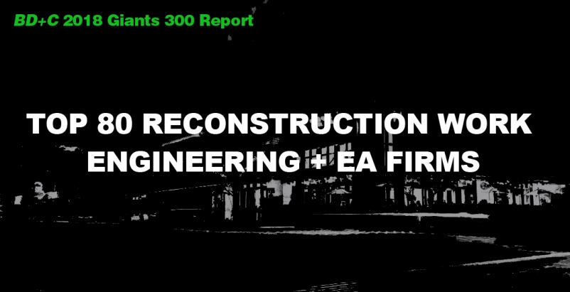 Top 80 Reconstruction Work Engineering + EA Firms [2018 Giants 300 Report]