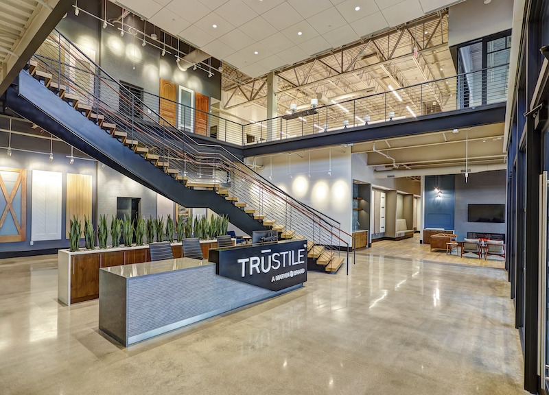 Lobby of TruStile's new headquarters in Denver