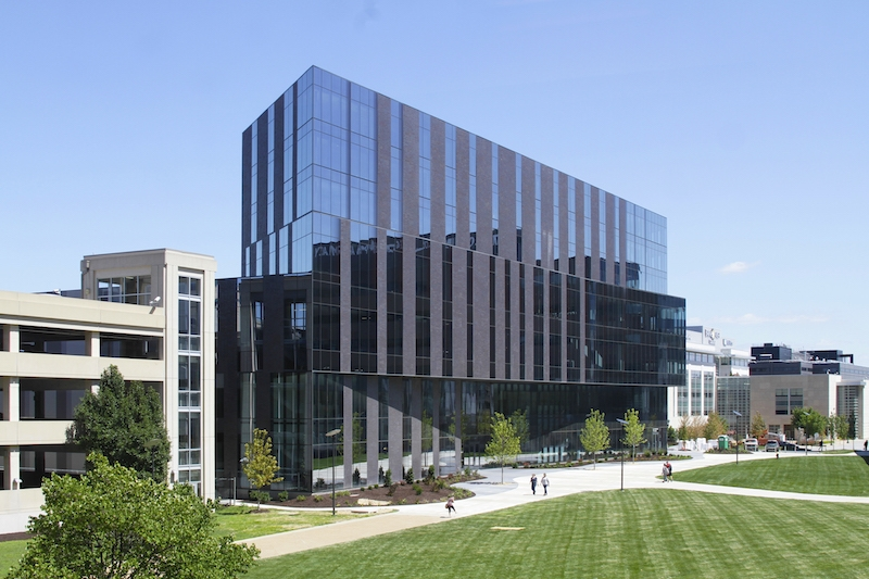 The exterior of the new Recreation and Student Center