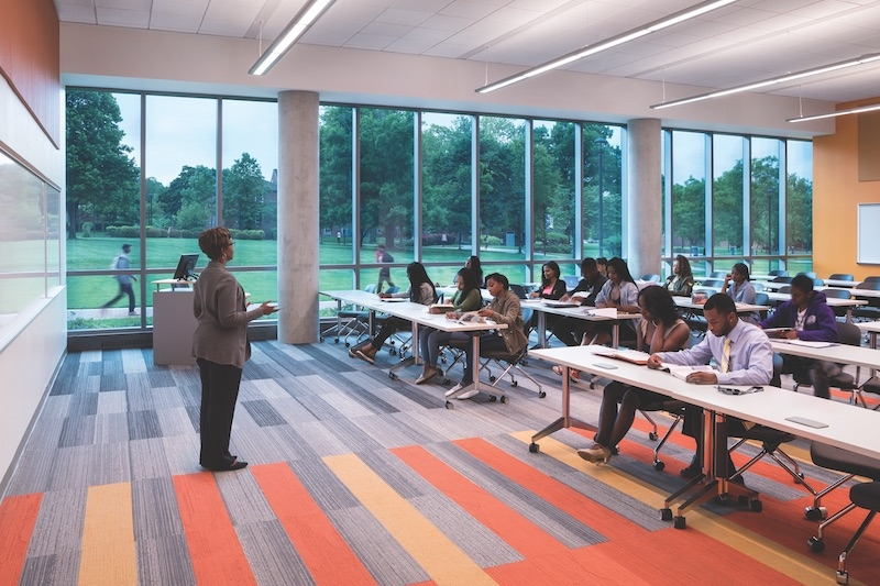 A teacher and class at Bowie State University