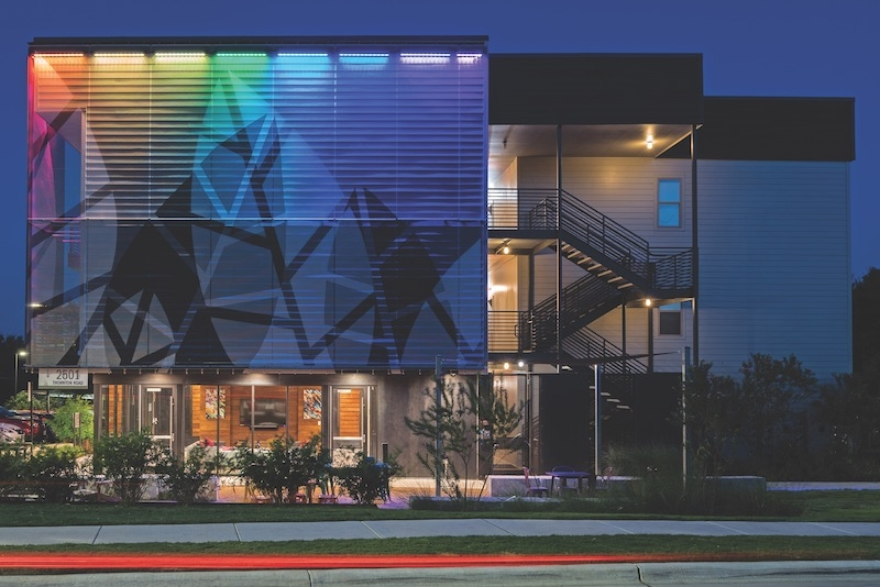 Metal Mesh Lends Natural Chill Vibe To South Austin Al Complex