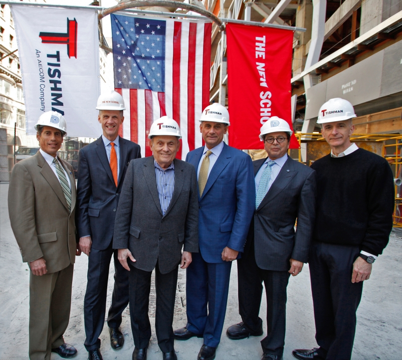 From left to right: Jody Durst, David Van Zandt, John Tishman, Daniel Tishman, D