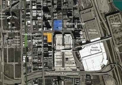 The McCormick district plan, courtesy TVS Design