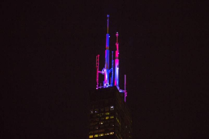 Willis Tower lights