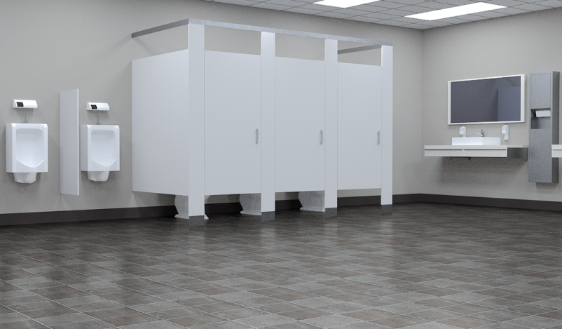 Public restrooms being used for changing clothes, phone conversations, and 'getting away'