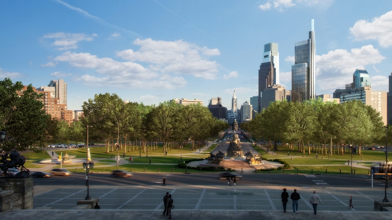 Renderings courtesy Foster + Partners, Comcast Corp.