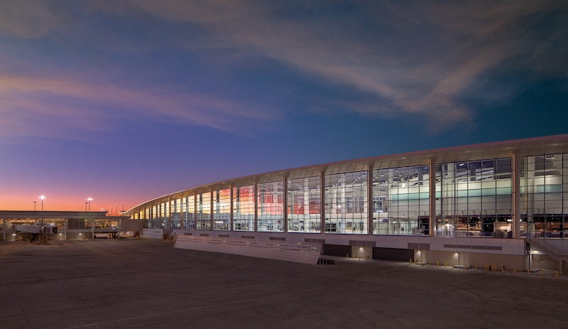 New Orleans international airport exterior curtain wall