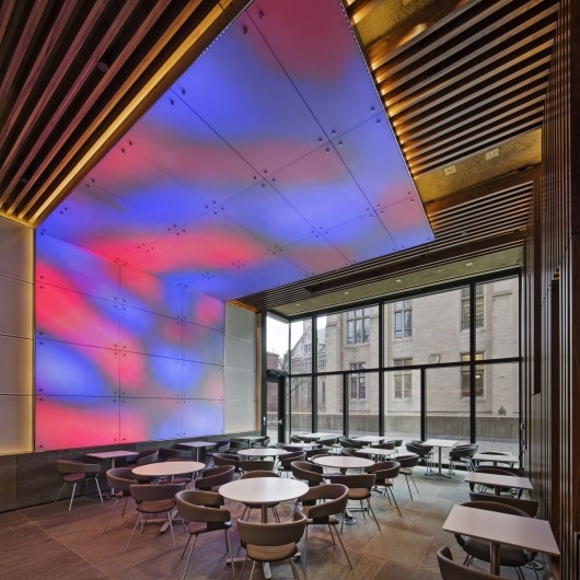 Ground cafe at Yale University, New Haven, Conn., by Bentel and Bentel Architect