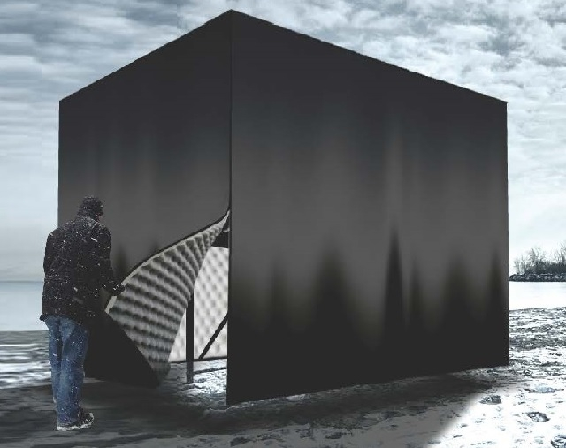 Hot Box, by Michaela MacLeod of Polymtis Architecture and Nicholas Croft, was o