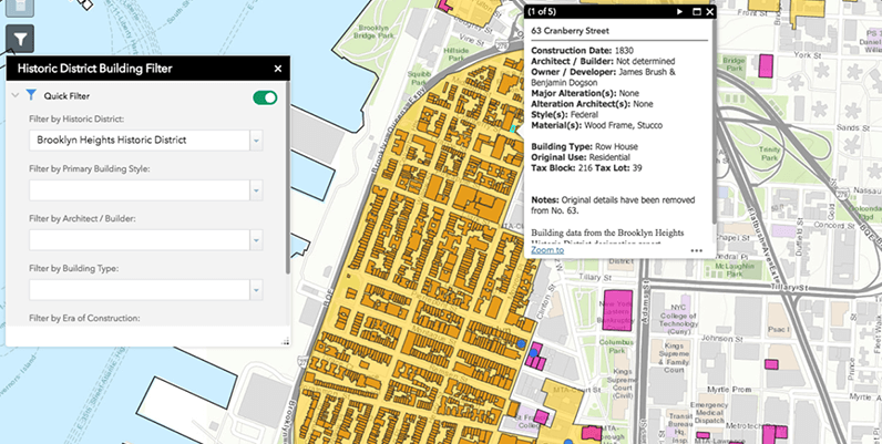 Interactive Map Of New York City.Interactive Map Includes Detailed Information On Historic New York
