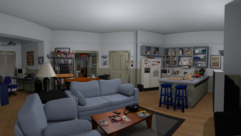 "Greg Miller used the Unity coding language to create ""Jerry's Place."" All render"