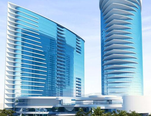 The Secon Nile Towers will feature two 23-story buildings: one five-star hotel t