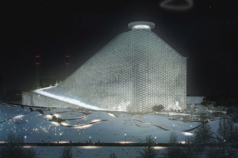 A man-made mountain will conceal a waste-to-energy facility near Copenhagen.