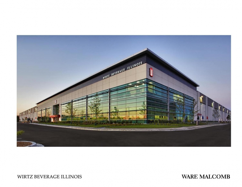 The 500,000-sf warehouse contains one of the largest temperature-controlled wine