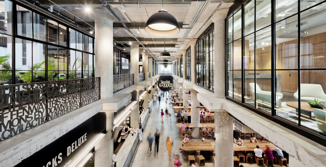 The food court at 401 Park, in Boston. Photo: c Connie Zhou