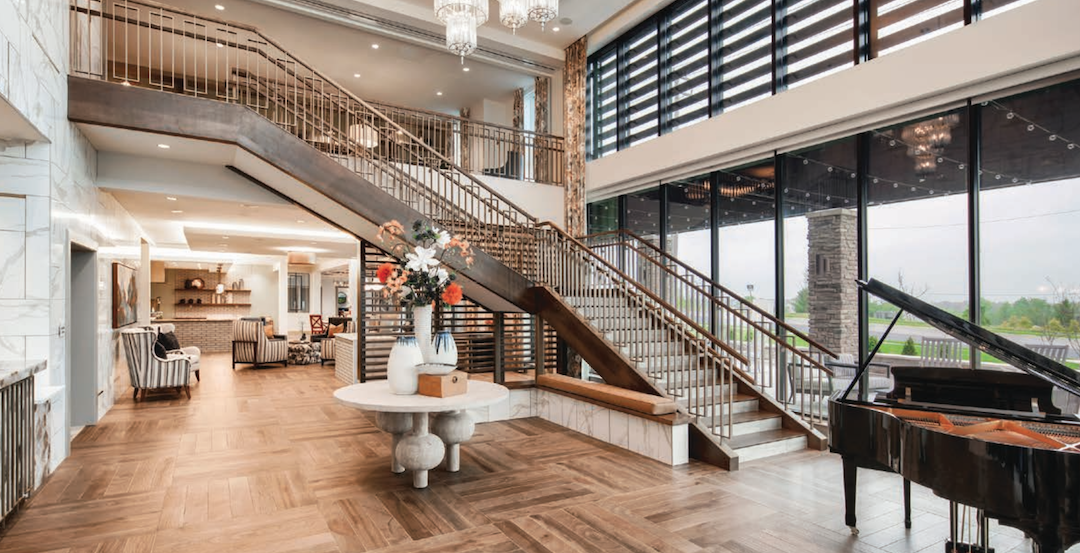 Lobby of Arbor Terrace at Fulton (Md.), designed by BCT Architects