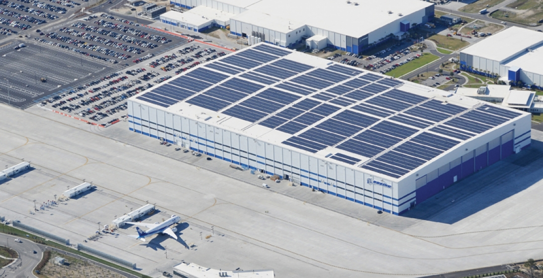 One of the largest PV installations in the country, thin-film solar laminate pan