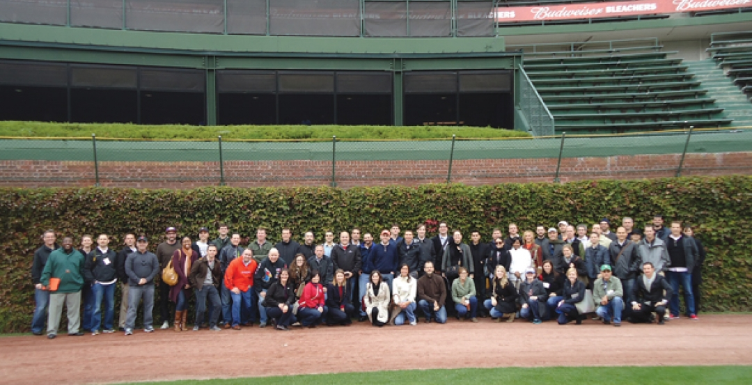 Dont touch the ivyits historic! The U40 Leadership Summit participants assemb