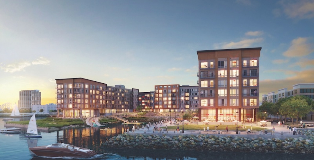 Rendering of Clippership Wharf