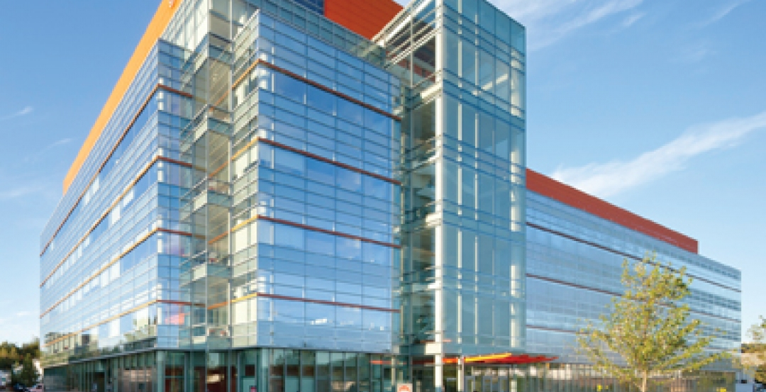 The 180,000-sf LEED Gold Genzyme Corporation Biologics Support Center in Framing
