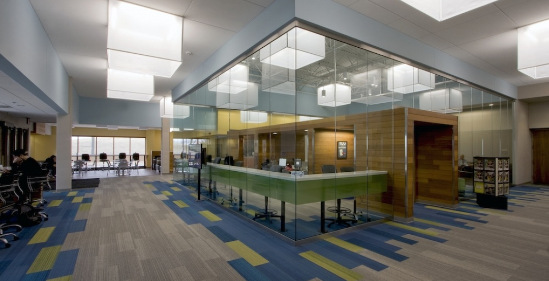 tubular daylighting devices solatube daylighting systems and fabric lanterns add brightness flair college enhances environment of student service center with tubular