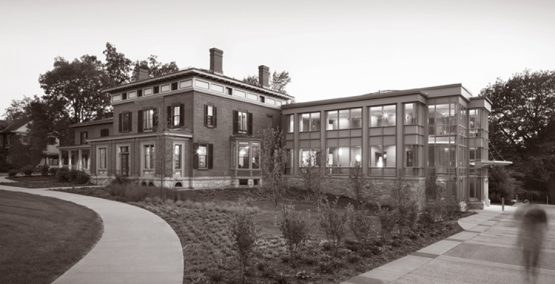 The Welcome & Admissions Center at Roger H. Perry Hall at Champlain College, Bur