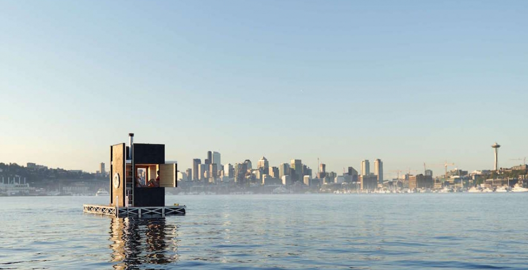 Floating sauna, mobile dental trailer, and Christmas market huts among this year's best small projects