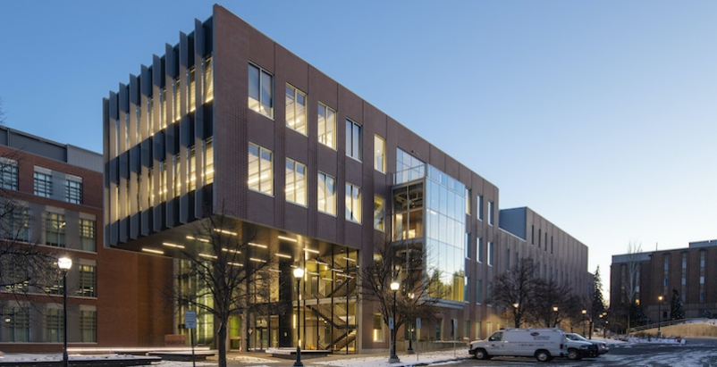 Exterior of WSU's new Plant Sciences Building
