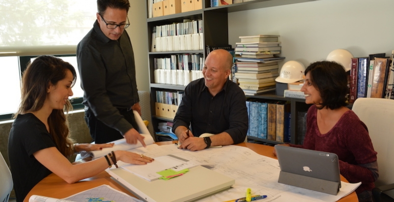 David Swartz FAIA in the LA office of HLW